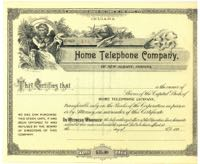 Greenwood /& Canisteo Telephone Co Stock Certificate New York