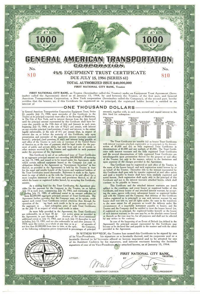 Bond General American Transportation Corporation